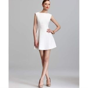 RARE! Cream Feather Ruth Fit-and-Flare Dress 6/M